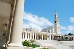Vista del santuario di Fatima, nel Portogallo Immagini Stock