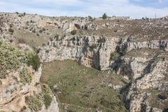 Vista del Sassi de Matera Foto de archivo