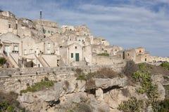 Vista del Sassi de Matera Foto de archivo libre de regalías
