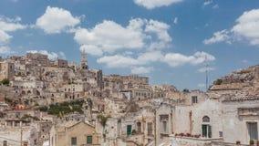 Vista del Sassi di Matera, Italia immagine stock libera da diritti