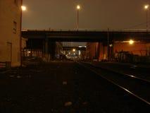 vista 2005 del Se Portland, O rotaie del treno immagine stock libera da diritti