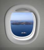 Vista del sedile di finestra degli aeroplani fotografie stock libere da diritti