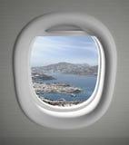 Vista del sedile di finestra degli aeroplani immagini stock libere da diritti
