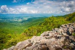 Vista del Shenandoah Valley de Franklin Cliffs Overlook, adentro fotografía de archivo
