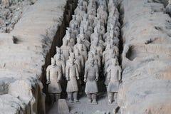 Vista del sitio de los guerreros de la terracota en Xi'an - Imagen imagen de archivo libre de regalías