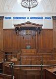 Vista del sitio del tribunal penal dentro de St Jorte Pasillo, Liverpool, Reino Unido Fotos de archivo libres de regalías