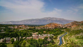 Vista del sito di eredità di Taxila, Pakistan immagini stock libere da diritti