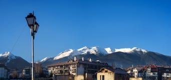 Vista del sity di bansko delle montagne di pirin Fotografie Stock