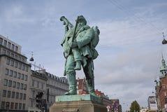 Vista del soldado privado y de la poca estatua de Hornblower fotografía de archivo libre de regalías