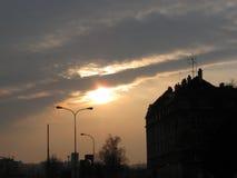 Vista del sole nel cielo Immagine Stock