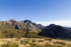 Vista del soporte Owen en el parque nacional de Kahurangi foto de archivo libre de regalías