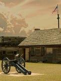 Vista del stanwix de la fortaleza Imágenes de archivo libres de regalías