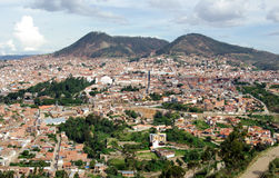 Vista del sucre, Bolivia Fotografia Stock