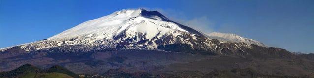 Vista del sud di Etna - Unesco Immagine Stock Libera da Diritti