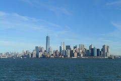 Vista del sud di Manhattan Fotografia Stock Libera da Diritti