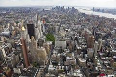 Vista del sud di Manhattan immagini stock libere da diritti