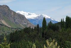Vista del sud del paesaggio delle montagne del Cile Immagini Stock Libere da Diritti
