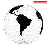 Vista del Sudamerica da spazio Immagini Stock Libere da Diritti