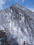 Vista del supporto nevoso Taibai, Cina Fotografie Stock Libere da Diritti