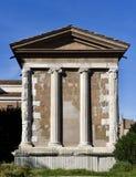 Vista del sur del templo del Portunus foto de archivo