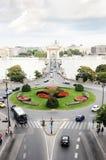 Vista del túnel del castillo de Buda en Budapest Imagen de archivo libre de regalías