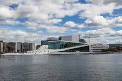 Vista del teatro de la ópera en Oslo Imagen de archivo