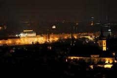 vista del teatro nazionale a Praga fotografia stock