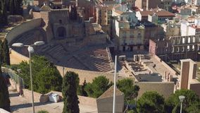Vista del teatro romano di Cartagine video d archivio
