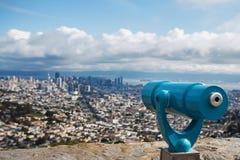 Vista del telescopio di San Francisco Fotografia Stock