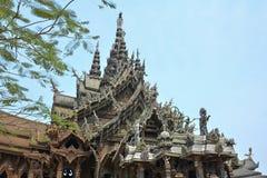 Vista del tempio di verità thailand fotografia stock