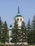 Vista del tempio ortodosso di Spassky nel giorno soleggiato di estate fotografia stock libera da diritti