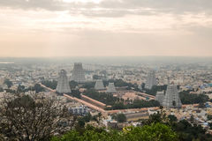 Vista del templo de Annamalaiyar, Tiruvannamalai, la India Fotografía de archivo libre de regalías