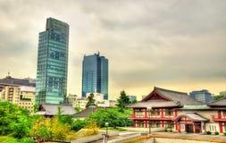 Vista del templo de Zojo-ji en Tokio fotos de archivo libres de regalías