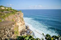 Vista del templo del mar del Balinese Imagenes de archivo