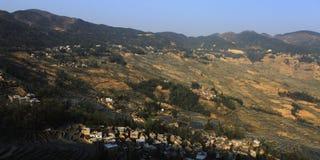 Vista del terrazzo nella zona di montagna di AiNao Fotografia Stock Libera da Diritti