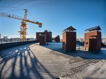 Vista del tetto fotografia stock