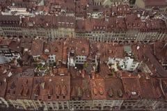 Vista del tetto di alloggio in Bern Switzerland Immagine Stock