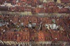 Vista del tetto di alloggio in Bern Switzerland Fotografie Stock