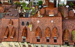Vista del tetto di alloggio in Bern Switzerland Immagini Stock