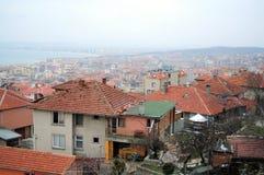 Vista del tetto di piccola città della spiaggia Fotografie Stock Libere da Diritti