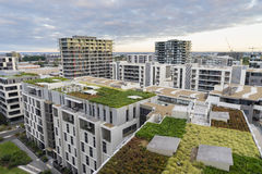 Vista del tetto verde sulle costruzioni moderne a Sydney, Australia Fotografia Stock Libera da Diritti