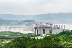 Vista del Three Gorge Dam Fotografia Stock