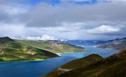 Vista del Tibet Fotografie Stock Libere da Diritti