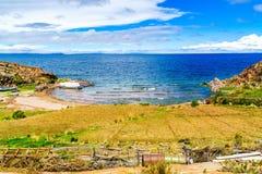 Vista del Titicaca Immagine Stock