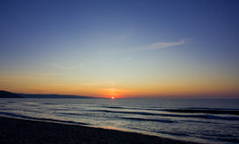 Vista del tramonto Fotografie Stock Libere da Diritti