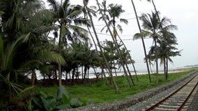 Vista del treno dello Sri Lanka video d archivio