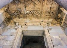 Vista del tubo principale del tempio di Garni immagine stock libera da diritti