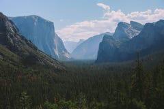 Vista del tunnel di Yosemite Fotografia Stock