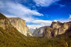 Vista del tunnel di Yosemite Fotografia Stock Libera da Diritti