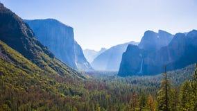 Vista del tunnel, parco nazionale di Yosemite Immagini Stock Libere da Diritti